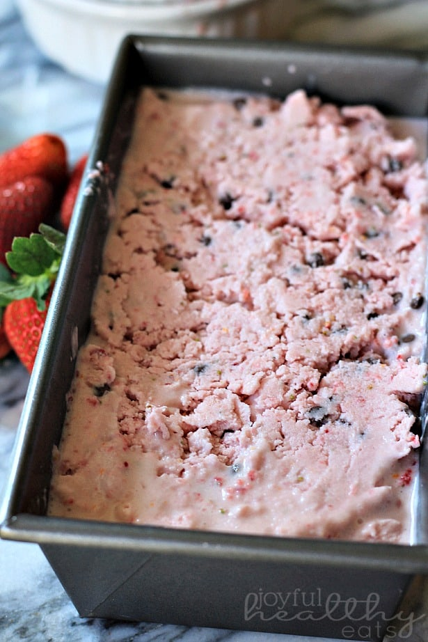 Strawberry Orange Ice Cream with Chocolate Chips 5