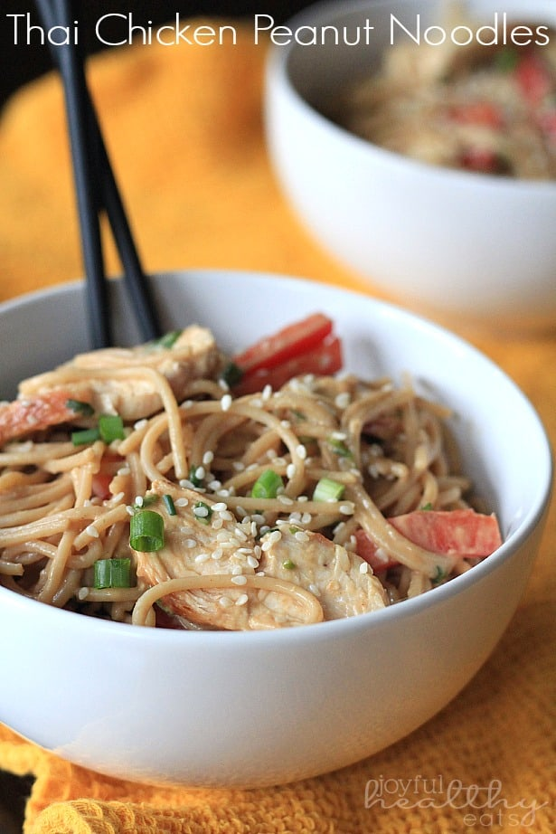 Thai Chicken Peanut Noodles #peanut #thaifood #pastarecipes #chicken #maindish