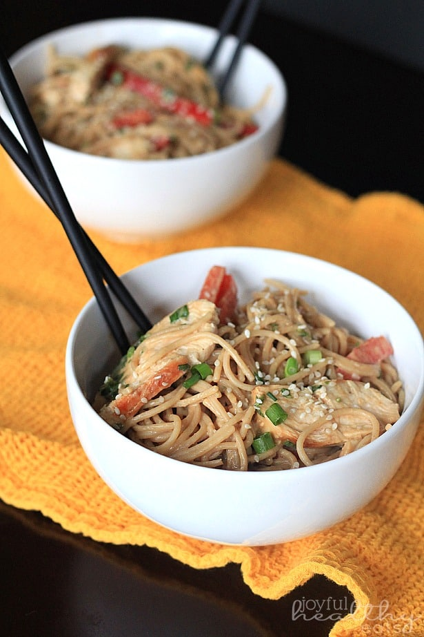 Thai Chicken Peanut Noodles 3