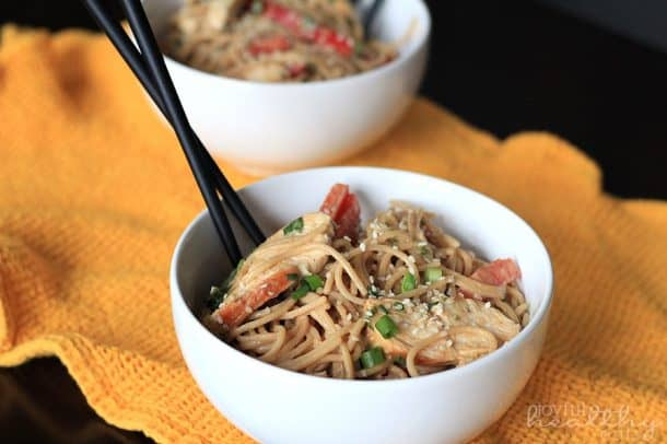 Thai Chicken Peanut Noodles 4