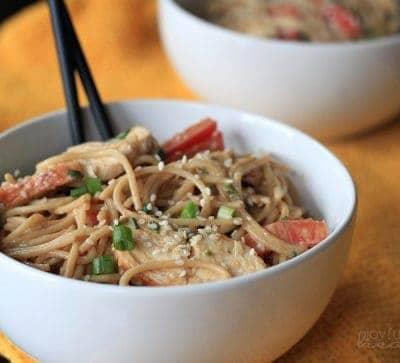 Thai Chicken Peanut Noodles #peanut #thaifood #pastarecipes #chicken #maindish