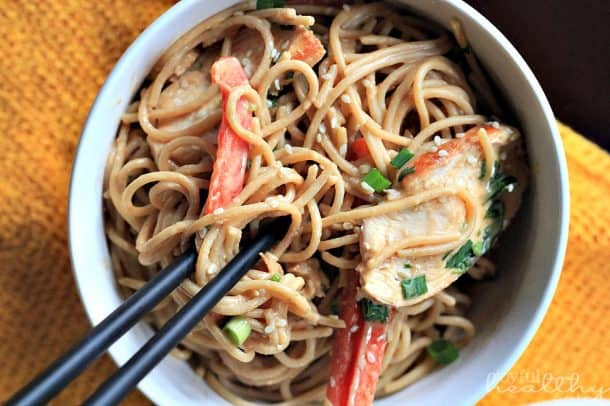 Thai Chicken Peanut Noodles 6