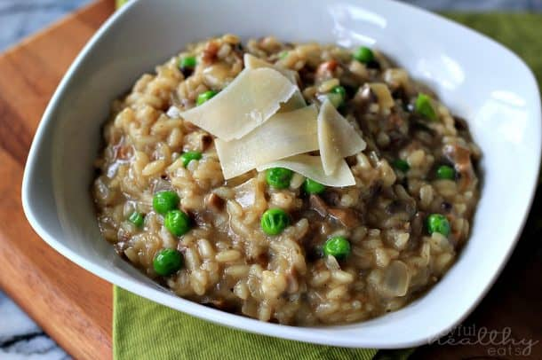 Wild Mushroom Risotto with Peas 2