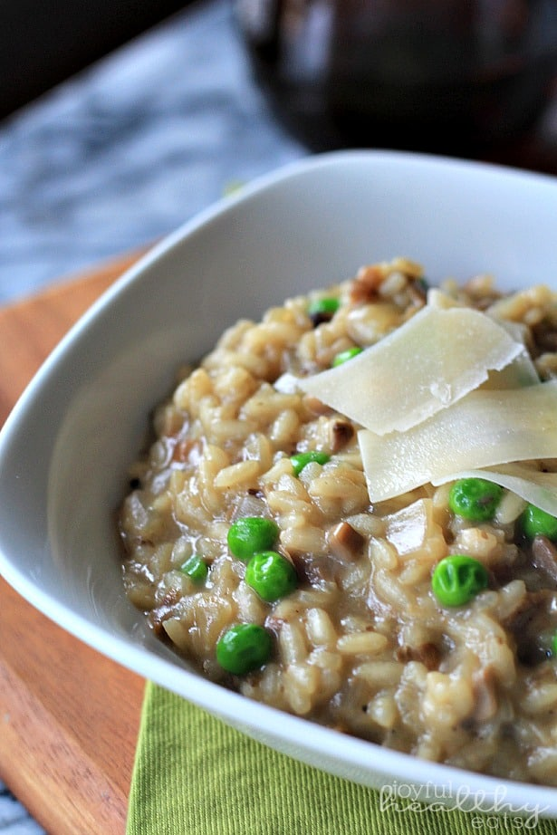 Wild Mushroom Risotto with Peas 3