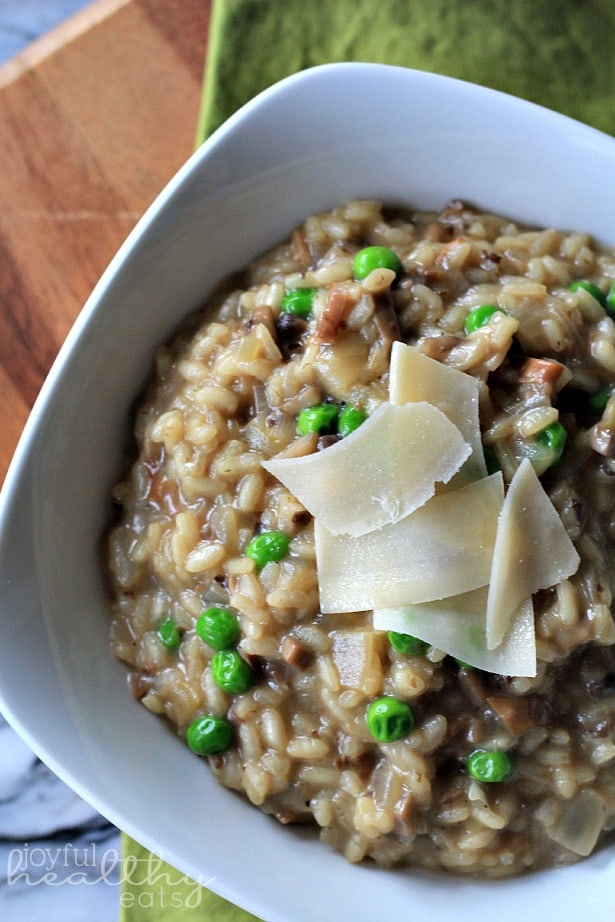 Wild Mushroom Risotto with Peas 4