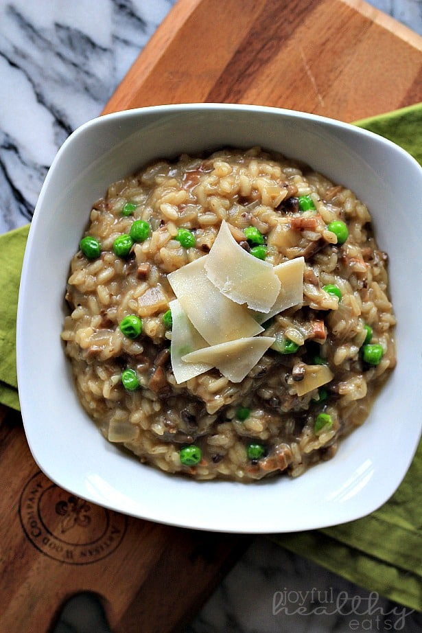 Wild Mushroom Risotto with Peas 5