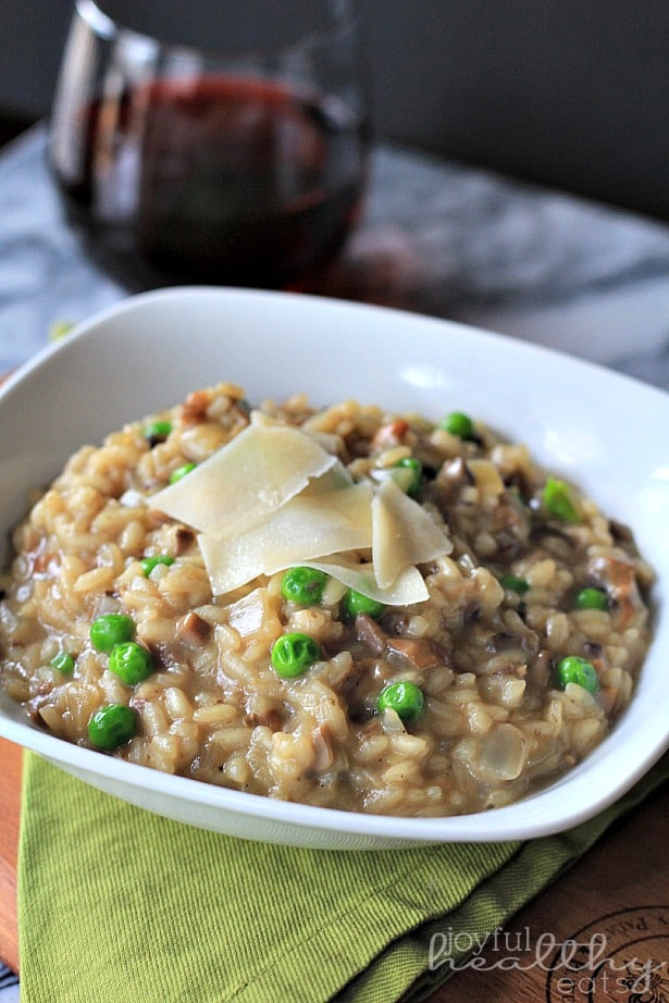 Wild Mushroom Risotto with Peas 6