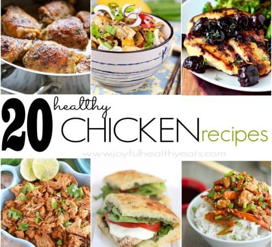 20 Healthy Chicken Recipes #chicken #poultry #recipes #dinner #healthy #quickandeasymeal