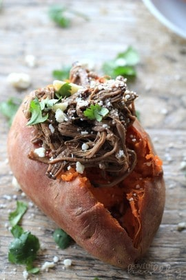 Chipotle Beef Barbacoa Stuffed Sweet Potatoes 2