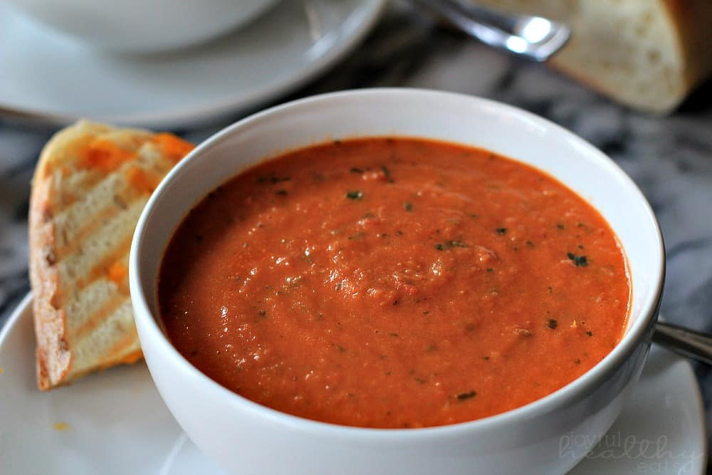 Creamy Tomato Basil Soup #basil #tomato #soup #tomatobasil #recipes #homemade