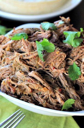 Crock Pot Chipotle Beef Barbacoa #crockpot #beef #shredded #slowcooker #texmex