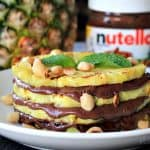 Grilled Pineapple with Nutella and Macadamia Nuts #MysteryDish