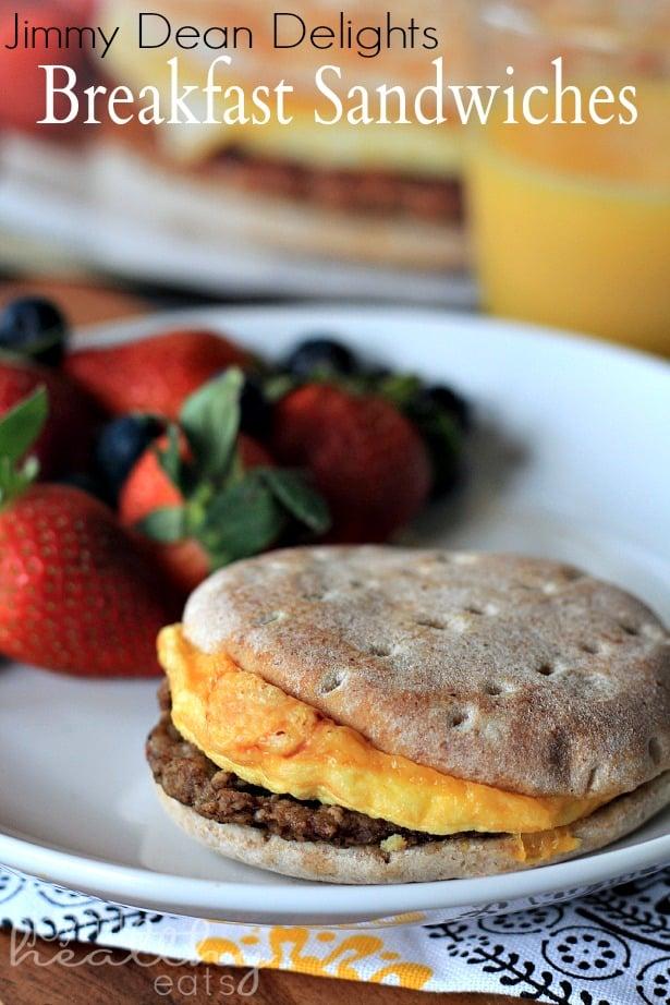 Jimmy Dean Delights Breakfast Sandwiches #breakfast #grabandgo #sandwich #quickbreakfast #lowcalorie #eggs #PMedia #ad #BreakfastDelight