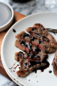 Image of New York Strip Steak with Balsamic Reduction