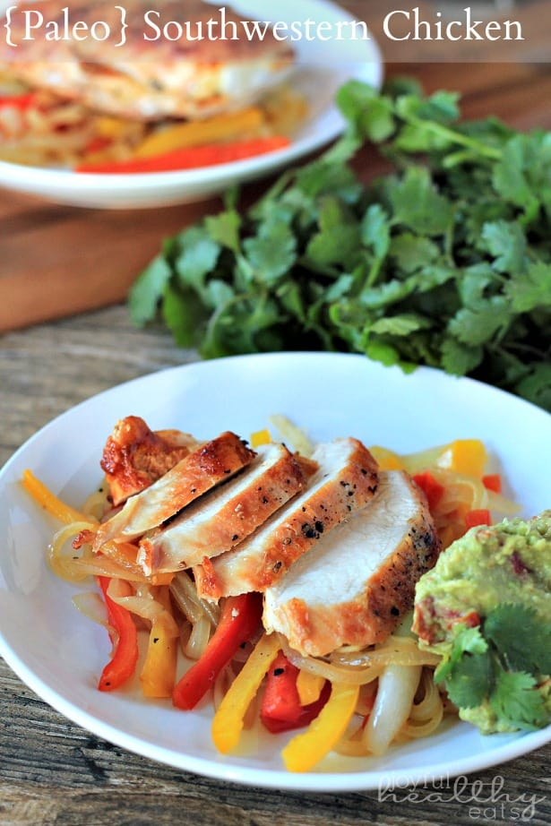 Paleo Southwestern Chicken with Peppers #chicken #southwestern #paleo #glutenfree #peppers