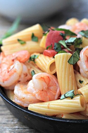 Spicy Shrimp Pasta #pasta #shrimp #seafood #spicy #healthy #light