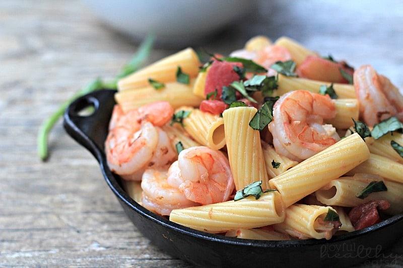 Spicy Shrimp Pasta #pasta #shrimp #seafood #spicy #healthy #light