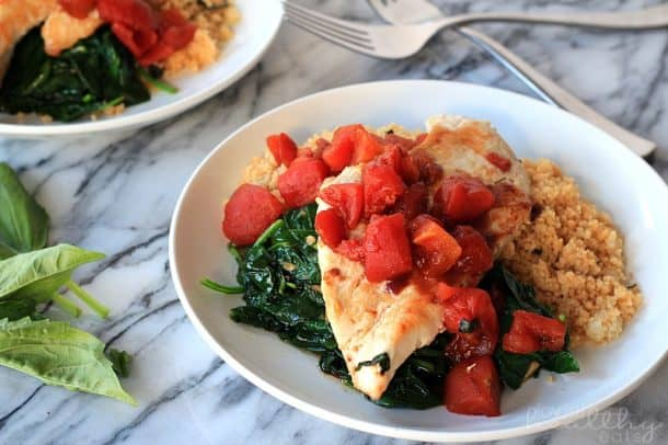 Balsamic Chicken with Baby Spinach 2