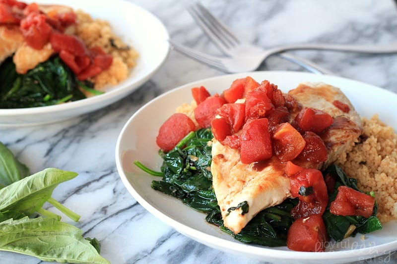 Balsamic Chicken with Baby Spinach 6