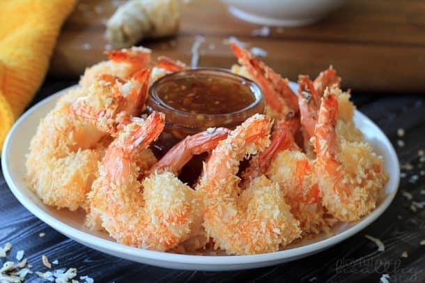 Coconut Shrimp with Thai Chili Ginger Sauce #coconutshrimp #seafood #appetizer #thai #ginger #shrimp