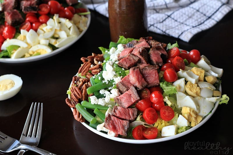 Steak Salad with Balsamic Vinaigrette #saladrecipes #steak #ribeye #balsamicdressing