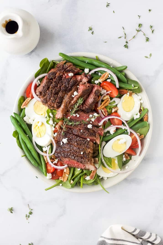 Ultimate Ribeye Steak Salad Recipe With Balsamic Dressing