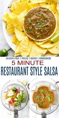 pinterest image for 5 minute restaurant style salsa