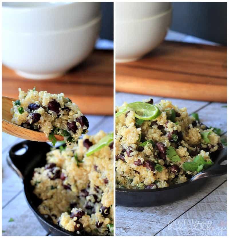 Cilantro Lime Quinoa with Black Beans #quinoa #glutenfree #mexicanfood ...