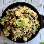 Cilantro Lime Quinoa with Black Beans | Healthy Mexican Side Dish