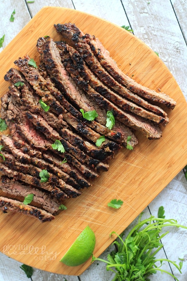 Grilled Fajita Skirt Steak #Steak #MexicanFood #cincodemayo #fajitas #marinade #paleo #glutenfree