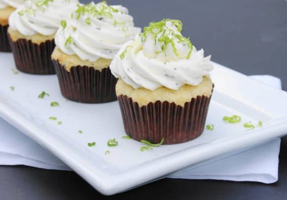 Margarita Cupcakes on a plate