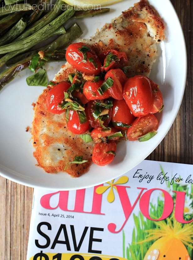 Panco crusted tilapia with fresh tomato basil sauce giveaway for Fish sauce kroger