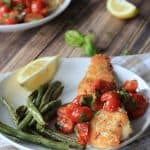 Panko Crusted Tilapia with a Fresh Tomato Basil Sauce + Giveaway