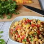 Tex-Mex Chickpea Salad {Garbanzo Bean} #MysteryDish