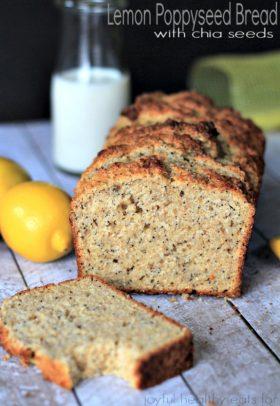 Image of Whole Wheat Lemon Poppyseed Bread, Sliced