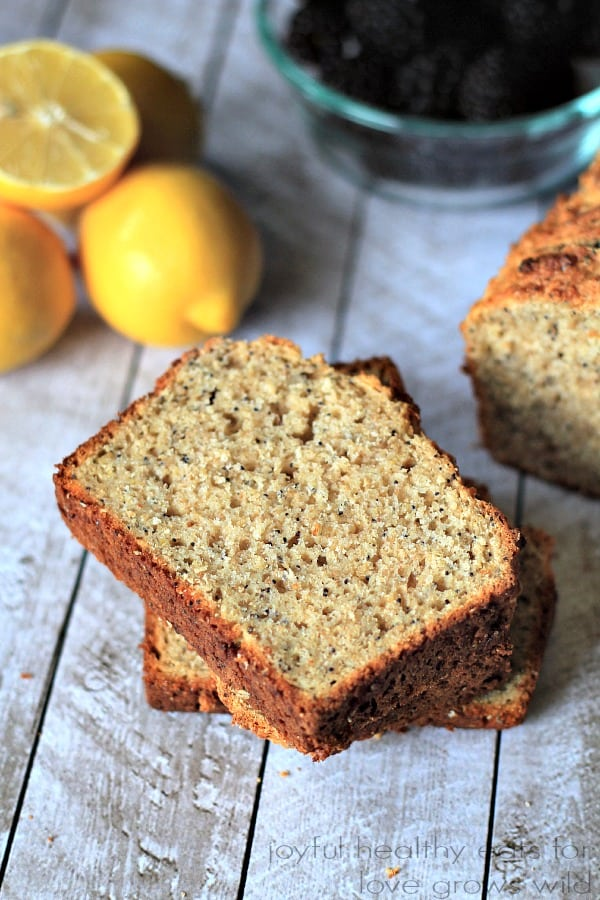 Whole Wheat Lemon Poppyseed Bread with chia seeds 3