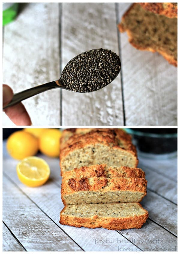 Lemony, moist and naturally sweet Whole Wheat Lemon Poppyseed Bread with an extra boost of nutrients from organic chia seeds! | LoveGrowsWild.com
