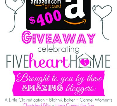 Five Heart Home First Blogiversary Giveaway