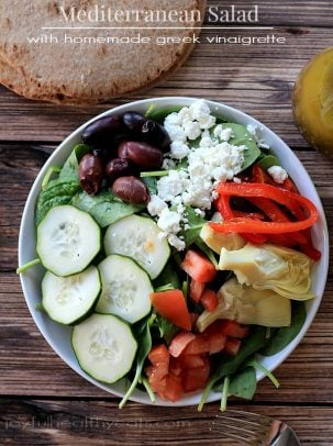 Mediterranean Salad with Homemade Greek Vinaigrette 2