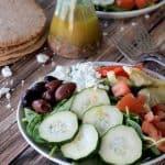 Mediterranean Salad with Homemade Greek Vinaigrette