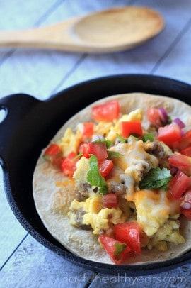 Sausage Egg & Cheese Breakfast Tostadas_4