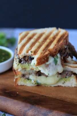 Steak & Cheese Panini with chimichurri sauce_6