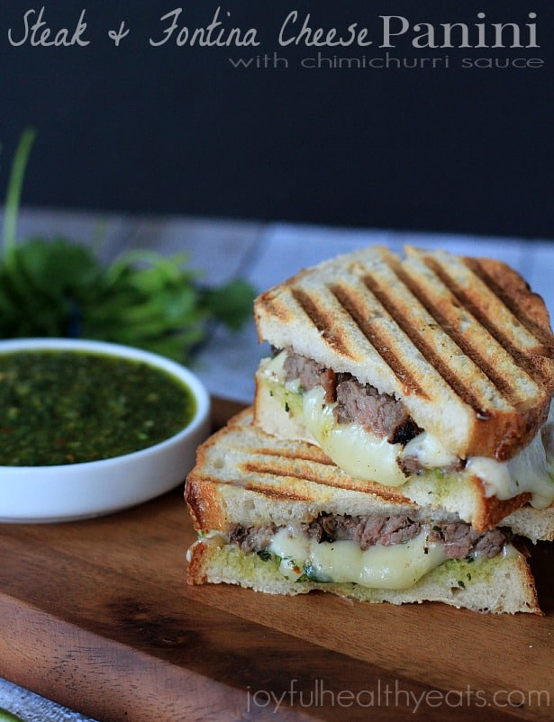 Steak & Cheese Panini with chimichurri sauce #sandwichrecipes #panini ...