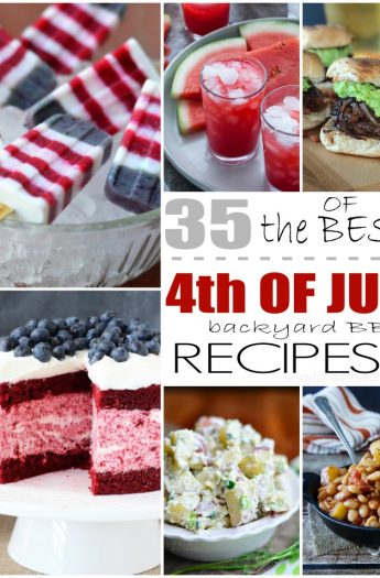 Title Image for 35 of the Best 4th of July Recipes with 6 examples of 4th of July recipes