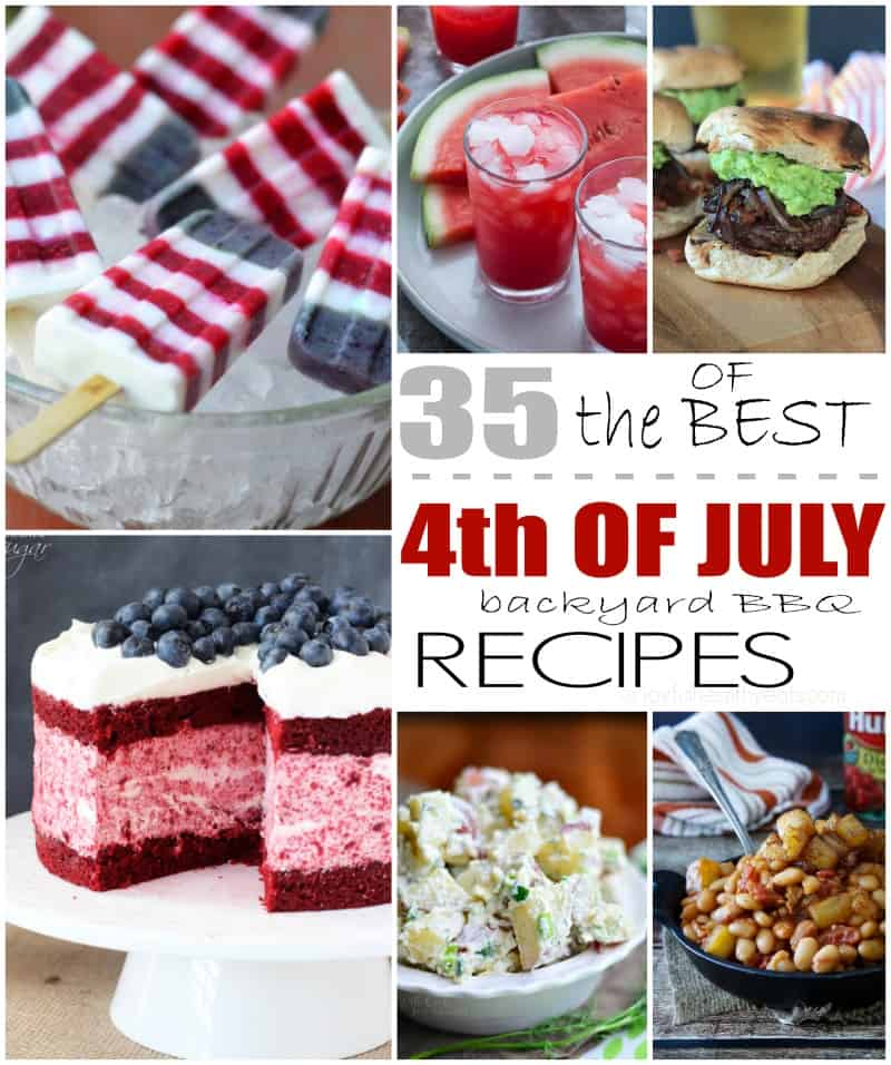 35 of the Best Backyard BBQ Recipes out there. Perfect for your 4th of July party! | www.joyfulhealthyeats.com