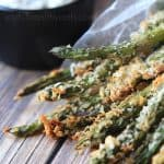 Baked Asparagus Fries with Lemon Herb Aioli