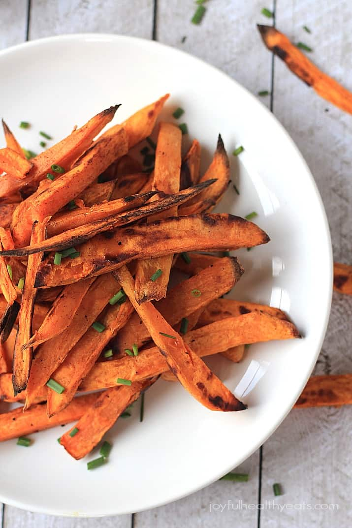 Sweet potato fries in a bowl