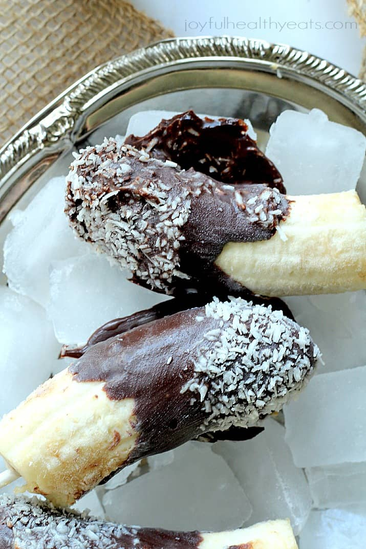 Cool down this summer with these healthy Chocolate Peanut Butter Popsicles with Coconut | www.joyfulhealthyeats .com