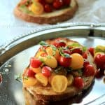 Fresh Tomato Bruschetta with Balsamic Reduction