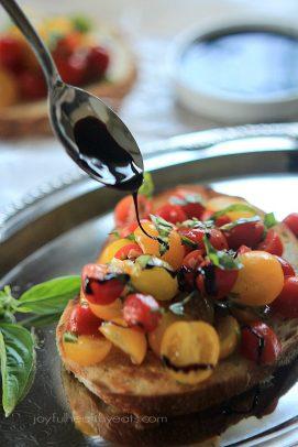 Image of Fresh Tomato Bruschetta with Balsamic Reduction